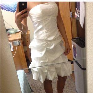 Dresses & Skirts - HOMECOMING PROM White ruffle corset style dress M
